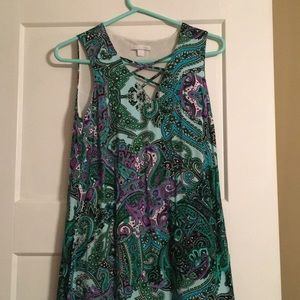Bright paisley dress